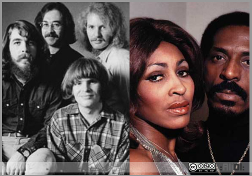 creedence clearwater revival and tina turner with ike: proud mary - rolling on the river